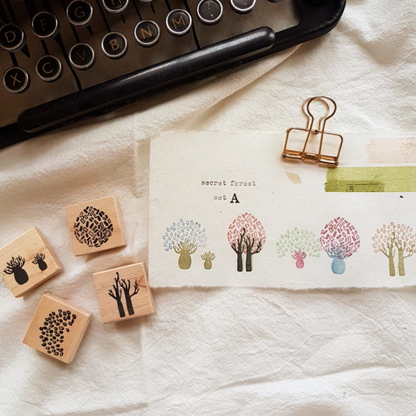 novebyvivent rubber stamp - secret forest Set A