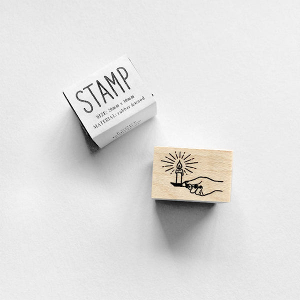 Knoop Rubber Stamp - Candle