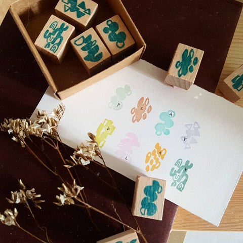 kurukynki rubber stamp - Play (set of 8)