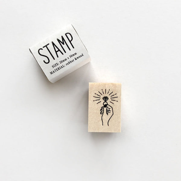 Knoop Rubber Stamp - Diamond