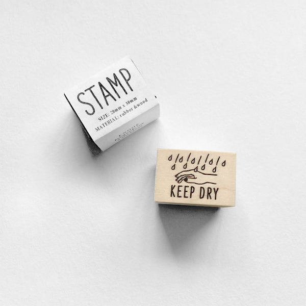 Knoop Rubber Stamp - Keep Dry