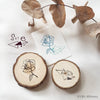 novebyvivent rubber stamp - botanical + pattern Set E