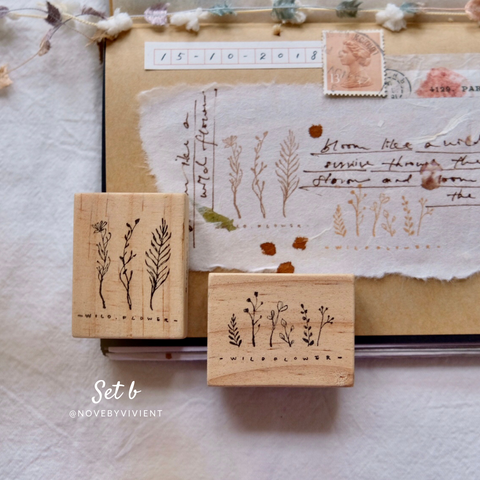novebyvivent rubber stamp - Spring Time set B (set of 2)