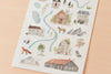 MU Print-On Sticker - Illustrator Series 67 - Travel Map
