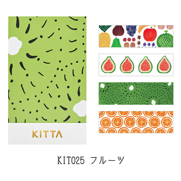 KITTA Washi Tape-Fruit 手帳標籤-水果