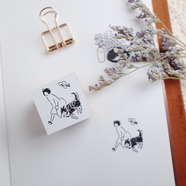 Rakui Hana x niconeco zakkaya Collaboration Stamp - Take a walking