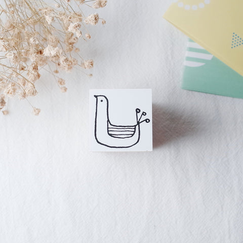 OSCOLABO rubber stamp - Sitting Bird
