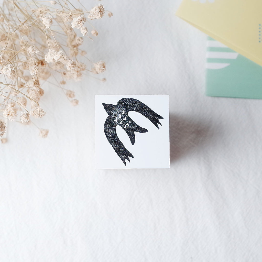 OSCOLABO rubber stamp - Flying Bird