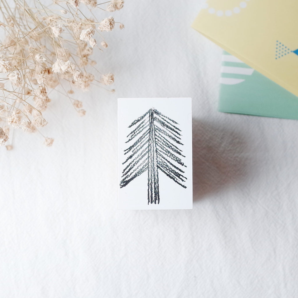 OSCOLABO rubber stamp - Needled Tree