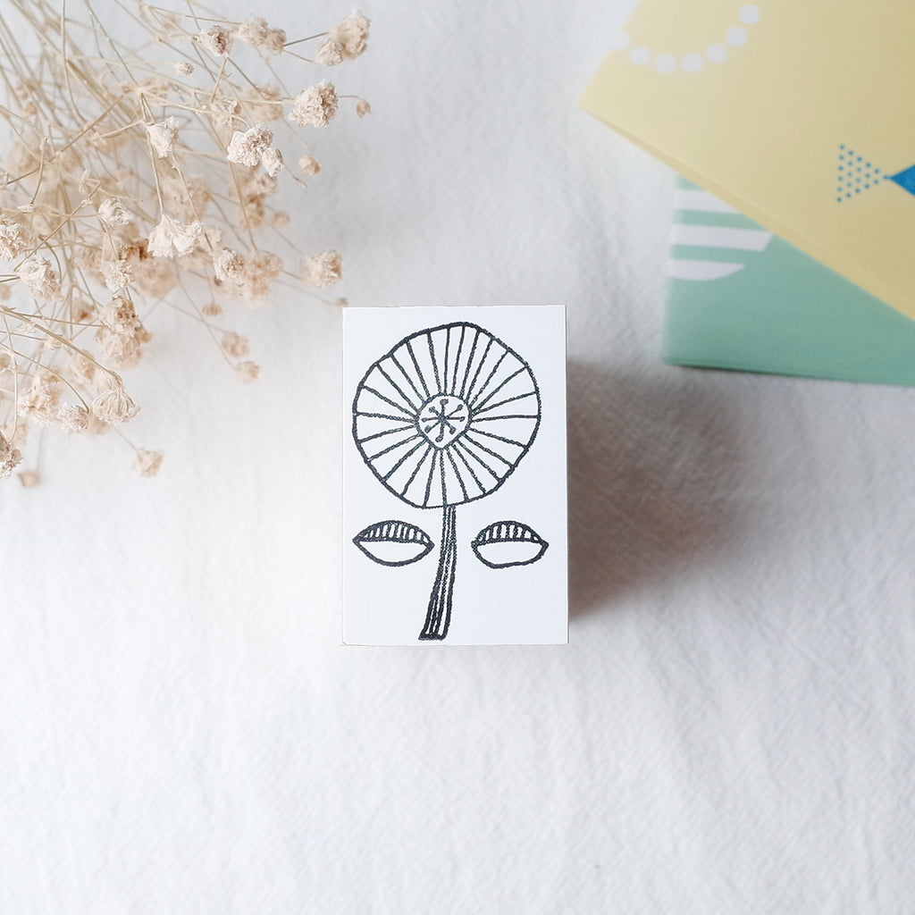 OSCOLABO rubber stamp - Wheeled Flower