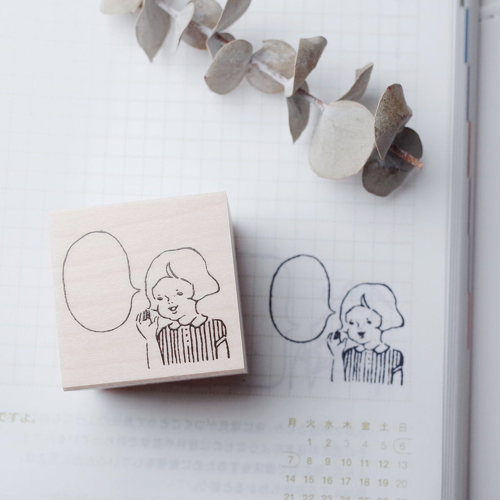 MASCO rubber stamp - Girl
