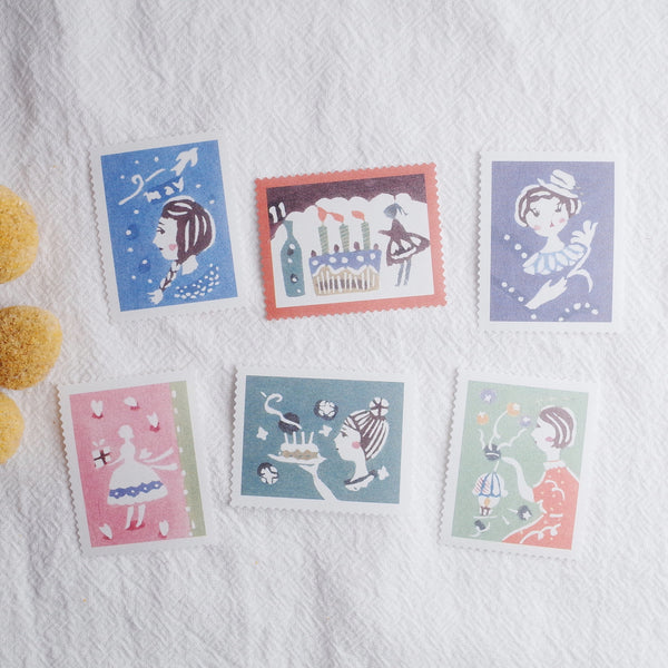 Classiky 倉敷意匠 Water Activated Stamp Seal - Girl