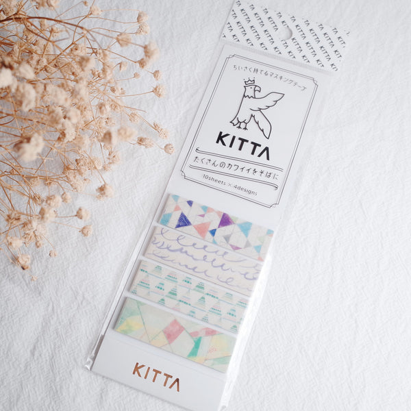 KITTA Washi Tape-Fantasy 手帳標籤-迷幻