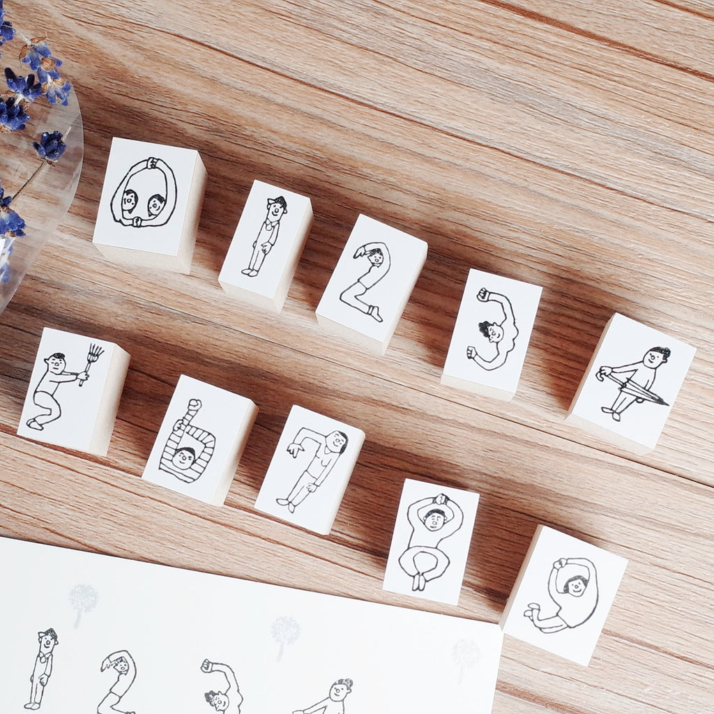 36 Sublo x Hoshino Shiho number rubber stamp set