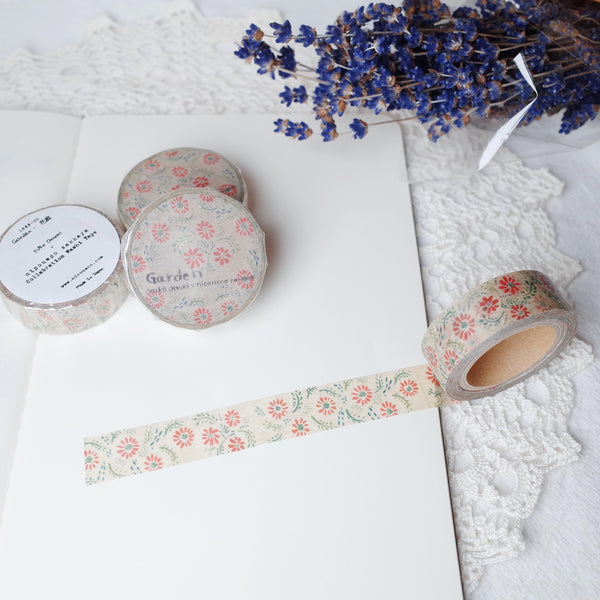 Omari Yuko x niconeco Collaboration Washi Tape - Garden