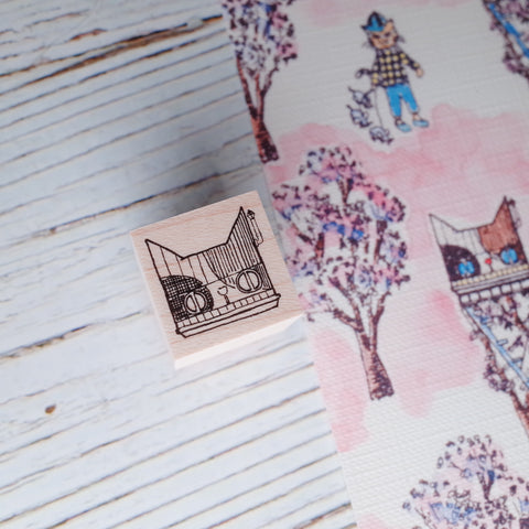 Akamegane stamp - Country series - Mini house