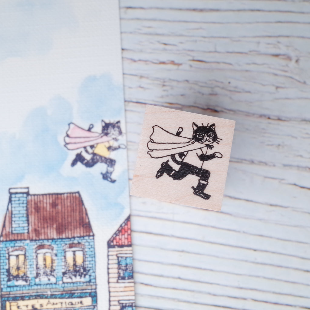 Akamegane stamp - Country series - Flying cat