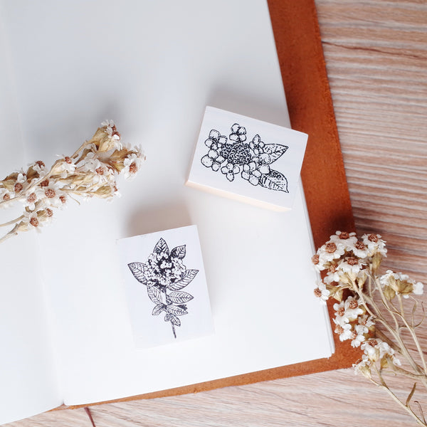 OHS rubber stamp - Hydrangea