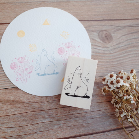 Nonnlala rubber stamp - Polar bear