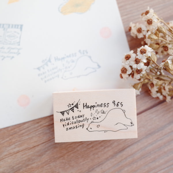 Nonnlala rubber stamp - Polar bear happiness