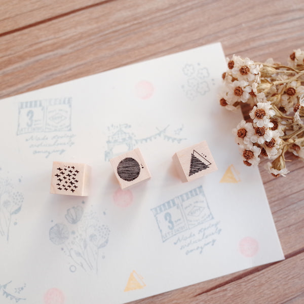 Nonnlala rubber stamp - mini stamps