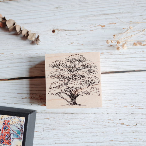 Akamegane stamp - Village by the Oaktree - Okatree