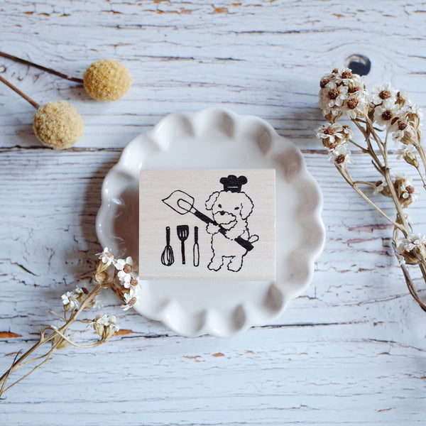 Hankodori stamp - Puppy's kitchen tools