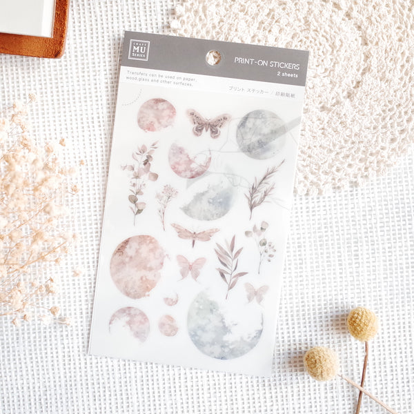 MU Print-On Sticker - Flower Series 66 - Lunar Eclipse Wood