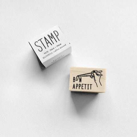 Knoop Rubber Stamp - Bon Appetit Chopsticks