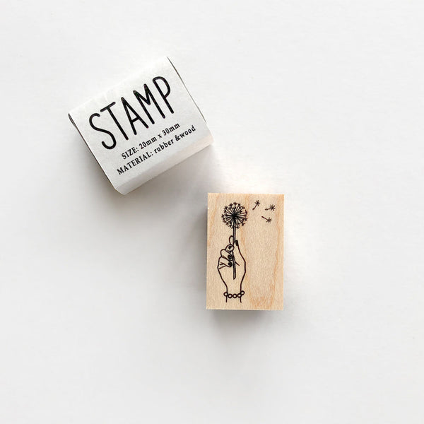 Knoop Rubber Stamp - Dandelion
