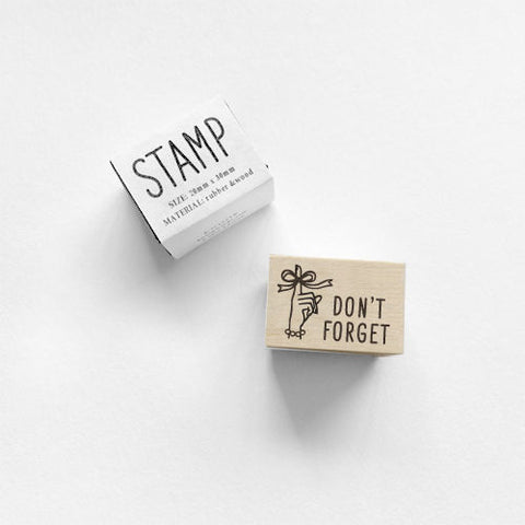 Knoop Rubber Stamp - Don't forget