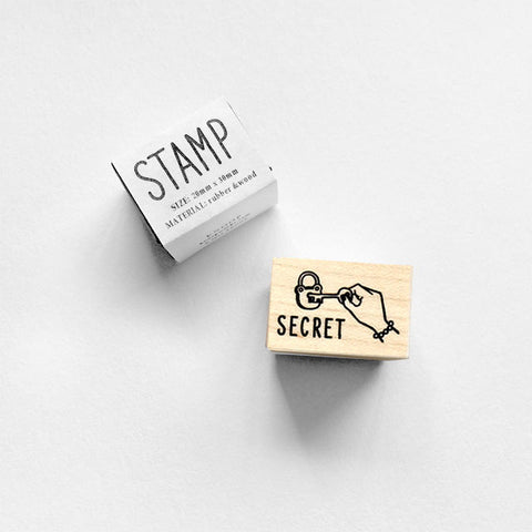 Knoop Rubber Stamp - Secret