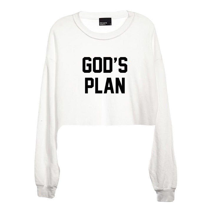 Private Party God's Plan Crop long sleeve