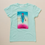 Molly Ivins as La Dama de Lotería Women's T-Shirt - Teal
