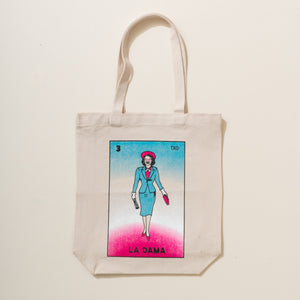 Molly Ivins as La Dama de Lotería Tote Bag