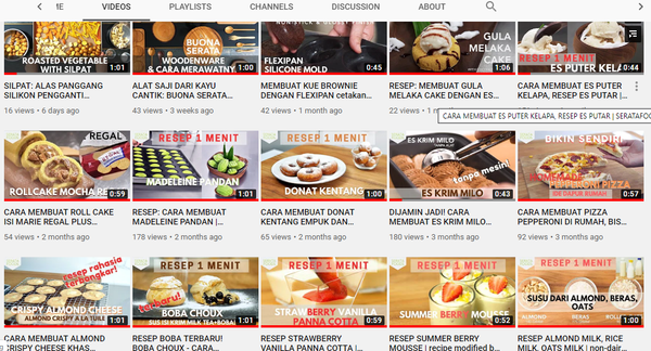 Channel YouTube SERATAFOODS