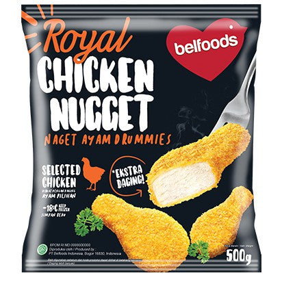 BELFOODS 207014 Royal Nugget Drummies - SerataFoods