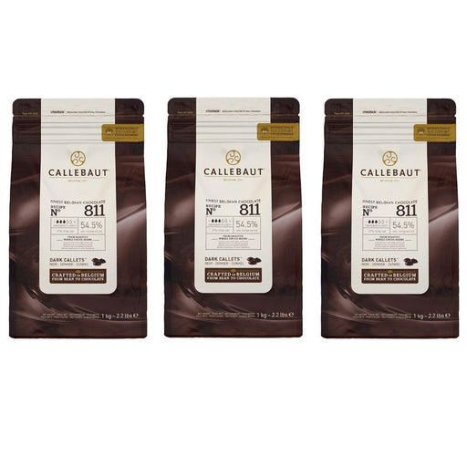 IC811NV68 Barry Callebaut Dark Couverture Chocolate 54.5% 1kg (KALIMANTAN AREA) - SerataFoods