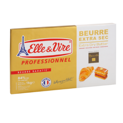 Elle Vire 100668 Extra Dry Butter 84% Fat 1kg - SerataFoods