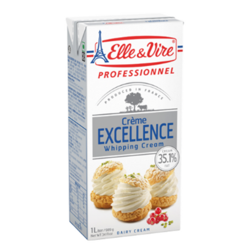 Elle Vire 100863 Whipping Cream 1L - SerataFoods