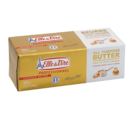 Elle Vire 146914 All Purpose Butter 82% 2.5 Kg - SerataFoods