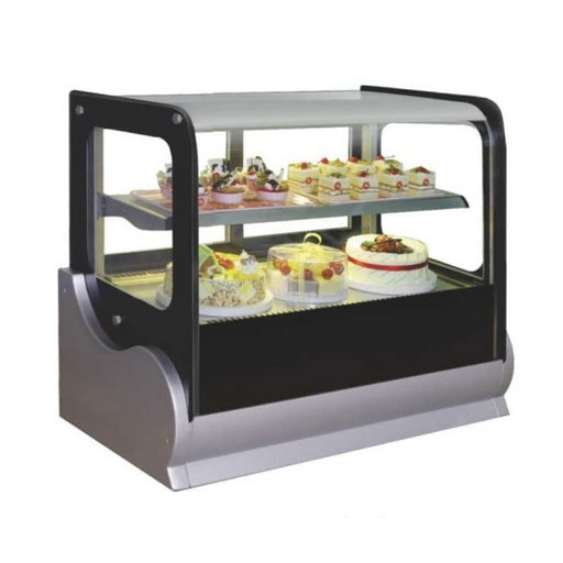 Gea A-530V Small Square Countertop Cake Showcase 140L - SerataFoods