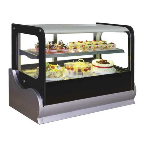 Gea A-540V Medium Square Countertop Cake Showcase 190L - SerataFoods