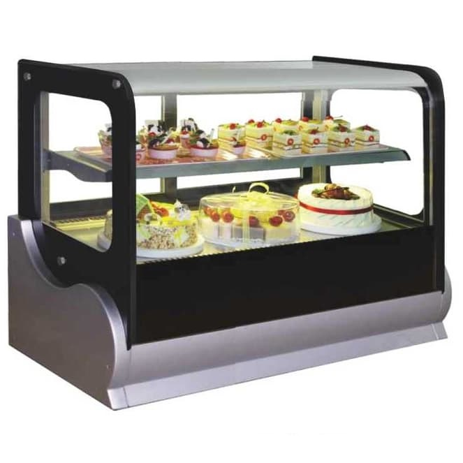 Gea A-550V Large Square Countertop Cake Showcase 240L
