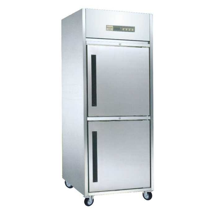 Gea M-RW8U1HH Stainless Steel Upright Chiller 2 Door 550L - SerataFoods