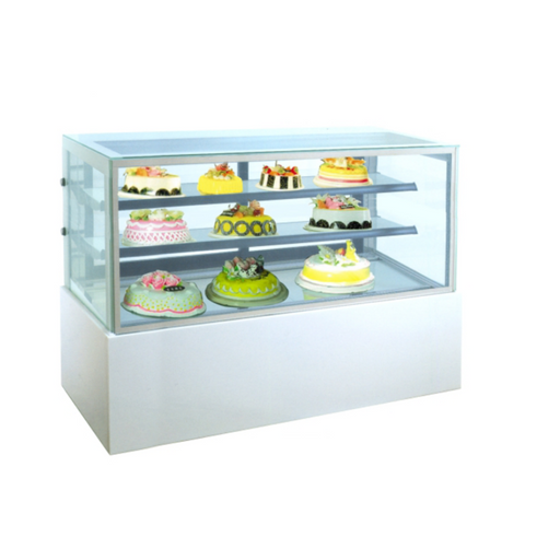 Gea MM750V Medium White Marble Cake Showcase 458L - SerataFoods