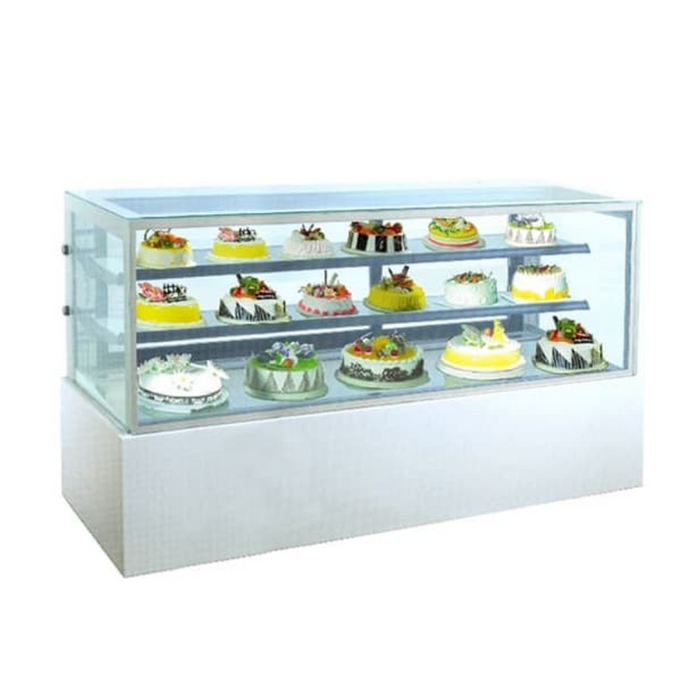 Gea MM780V Extra Large White Marble Cake Showcase 740L