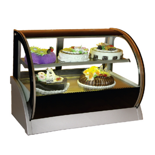 Gea S-540A Medium Round Countertop Cake Showcase 155L - SerataFoods