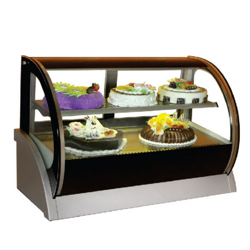 Gea S-550A Large Round Countertop Cake Showcase 200L - SerataFoods