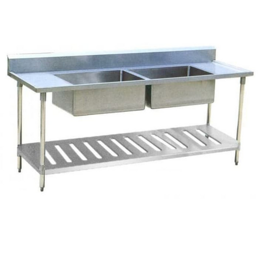 Getra DST-1855 Sink Table 2 Bowls - SerataFoods